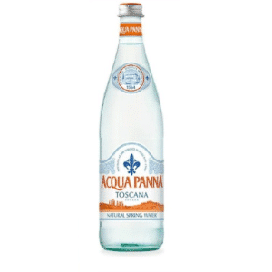 butelka wody niegazowanej acqua panna 0,75L 750ml szkło
