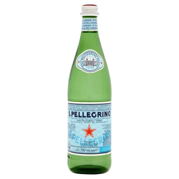 butelka wody gazowanej san pellegrino 0,75L 750ml szkło