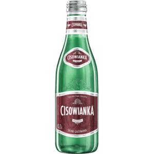 butelka szklana cisowianka 0,3 L gazowana silnie