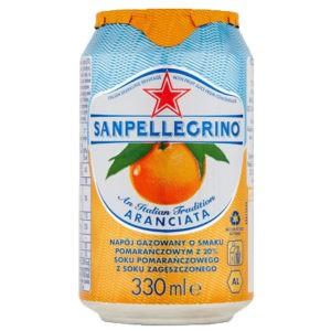 sanpellegrino aranciata o smaku pomarańczy pomarańczowym