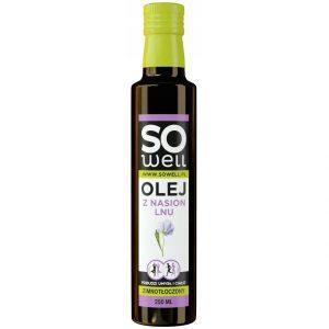 olej z nasion lnu lniany SoWell 0,25L