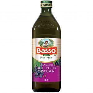 Olej winogronowy z pestek winogron Basso 1l