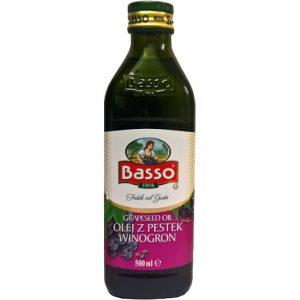 Olej winogronowy z pestek winogron Basso 0,5L